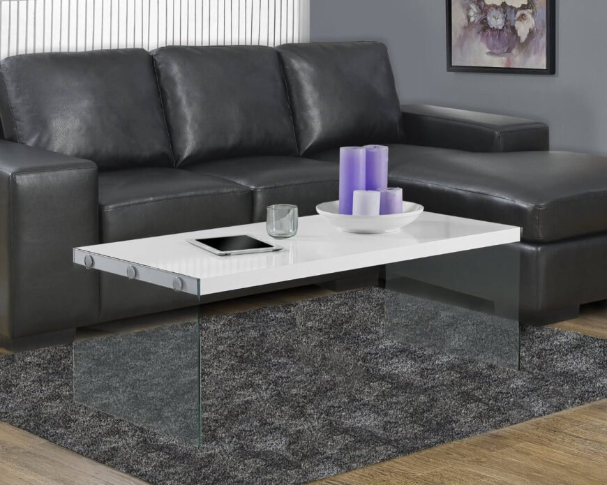 With this table, we take a leap into thoroughly modern territory with sleek looks and a glass frame that makes the table surface appear to float in a room. The sharply minimalist construction ensures a striking appearance no matter where it's placed.