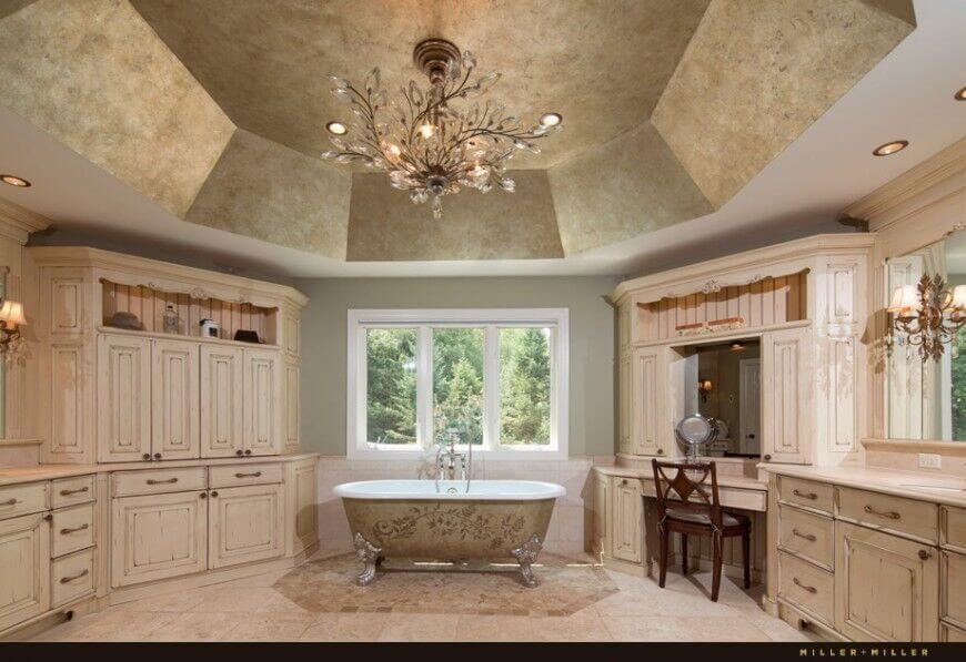 Classic 3 Frame Window Next to Bathtub