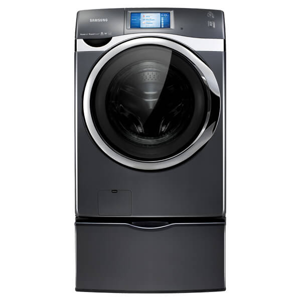 This washer interfaces with a special smartphone app to send you notifications when laundry is finished, let you remote control the machine, extend the cycle, and more. Now you're no longer tethered to home while your laundry is running, and you'll know exactly when your clothes are ready and clean. You can even start up a cycle while at work, and come home to freshly cleaned clothes.