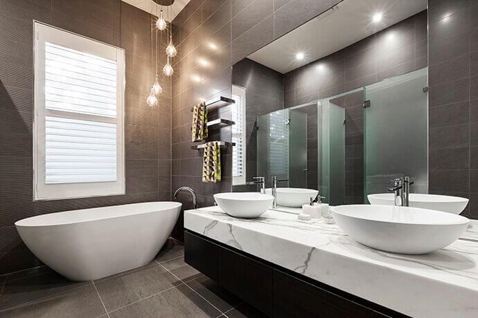 Bathroom Window with Translucent Blind