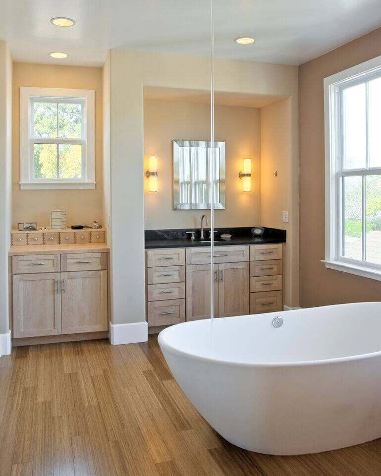 Bathroom with Window Above the Sink
