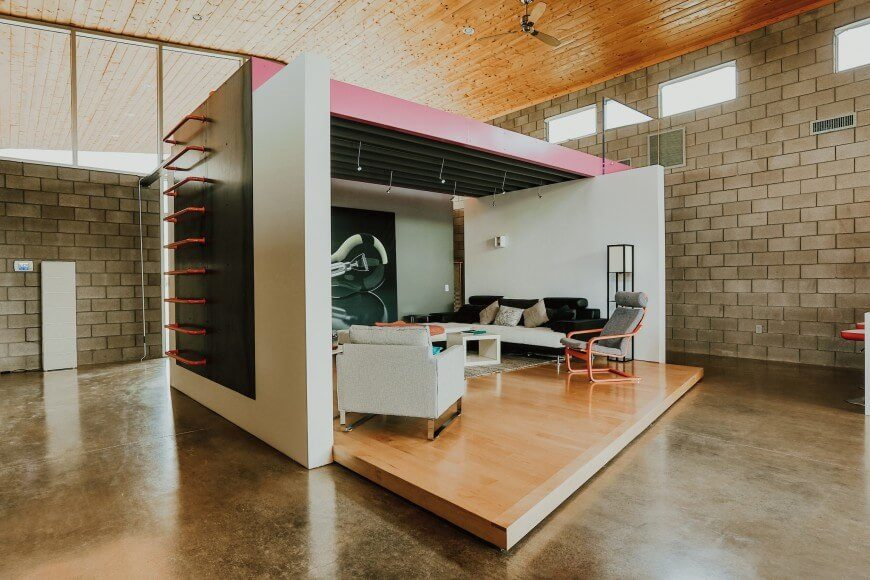 Because of brick's prevalence in early-to-mid Twentieth Century construction, there are a lot of non-traditional housing featuring brick around the world just waiting to be utilized. Areas like storage sheds and former athletic courts, like the one above, may be turned into cool open-layout living spaces.