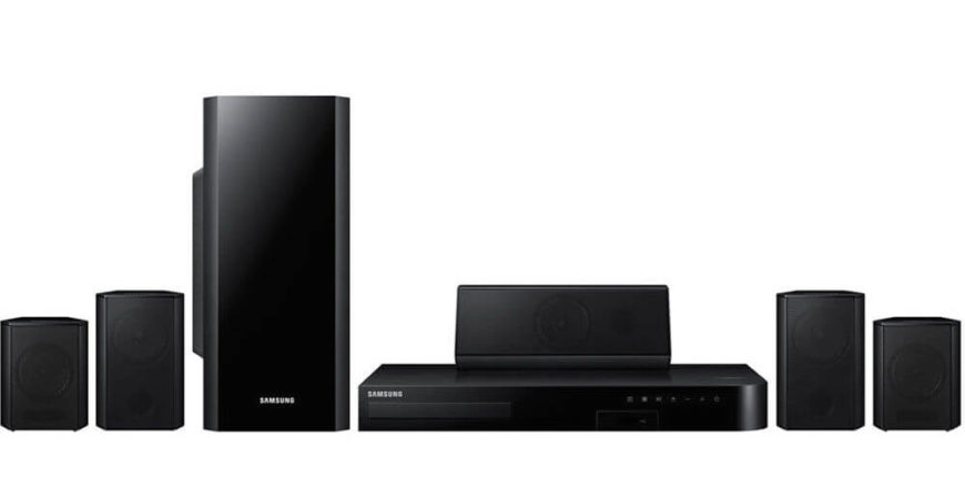What appears like a traditional home theater system is actually a smart content streaming platform, using wi-fi, bluetooth, and your smart devices to remotely control and display content from a variety of sources. In addition to playing disc-based movies, it's able to stream Netflix, Hulu, and other video apps courtesy of your phone or tablet.