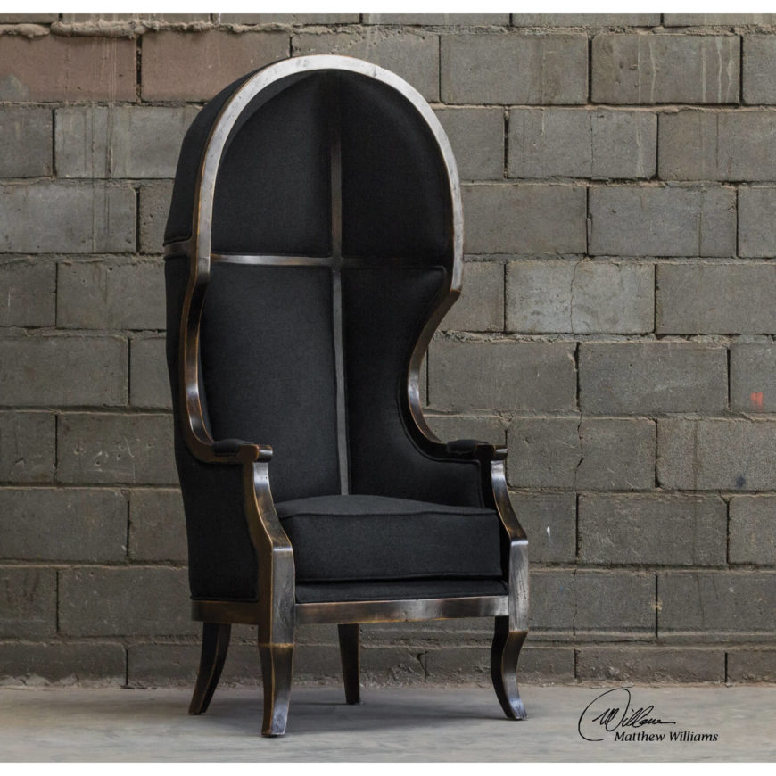 This extremely unique chair is modeled after 18th century furniture, featuring a hand-carved mango wood frame. The removable cushion ensures comfort, while the almost archaic design and exposed frame are sure to surprise and impress each and every one of your visitors. This is as classy as a man cave throne gets!