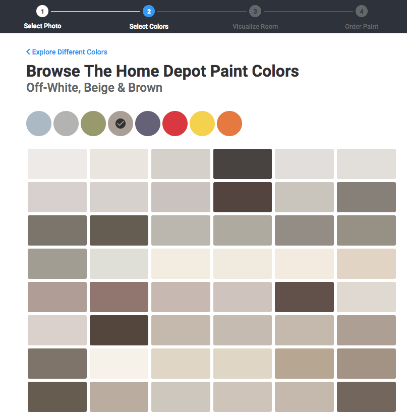 Choose specific paint color to apply to your house exterior or room interior - Glidden