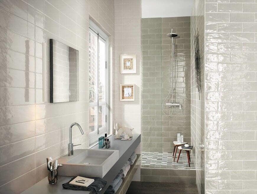Bathroom with Window Above Vanity
