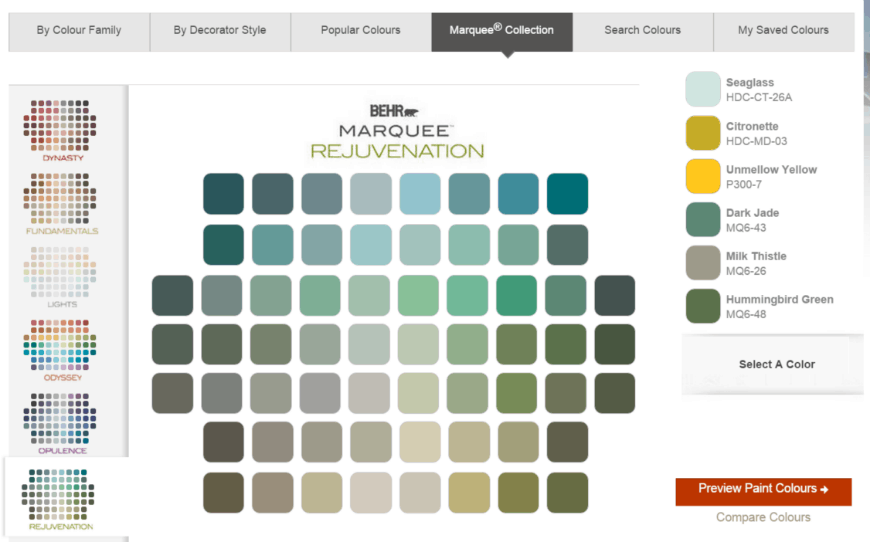 Behr® Paint Colours choose color
