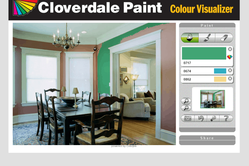 Cloverdale Paint Colour Visualizer fill