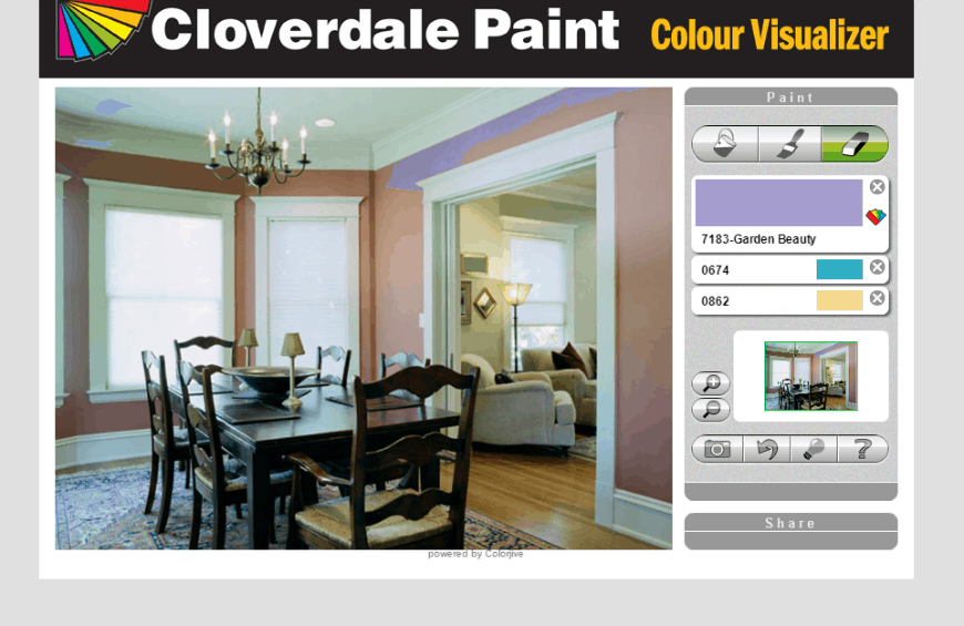 Cloverdale Paint Colour Visualizer eraser
