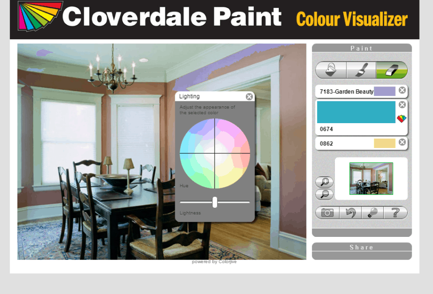 Cloverdale Paint Colour Visualizer Light