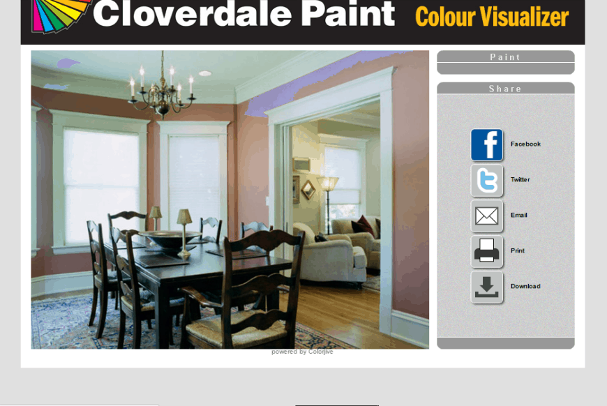 Cloverdale Paint Colour Visualizer share