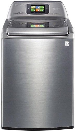 Similar to the above oven, this smart washing machine connects to a mobile app that allows you to monitor and control your wash cycle from virtually anywhere. It's a large capacity, energy efficient unit, of course, but the standout feature is the ability to stay on top of your laundry situation while at work, shopping, or just upstairs.