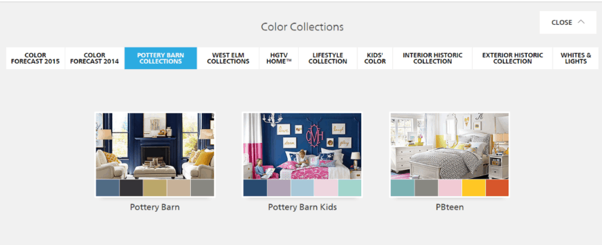 Sherwin-Williams ColorSnap ® Visualizer color collection