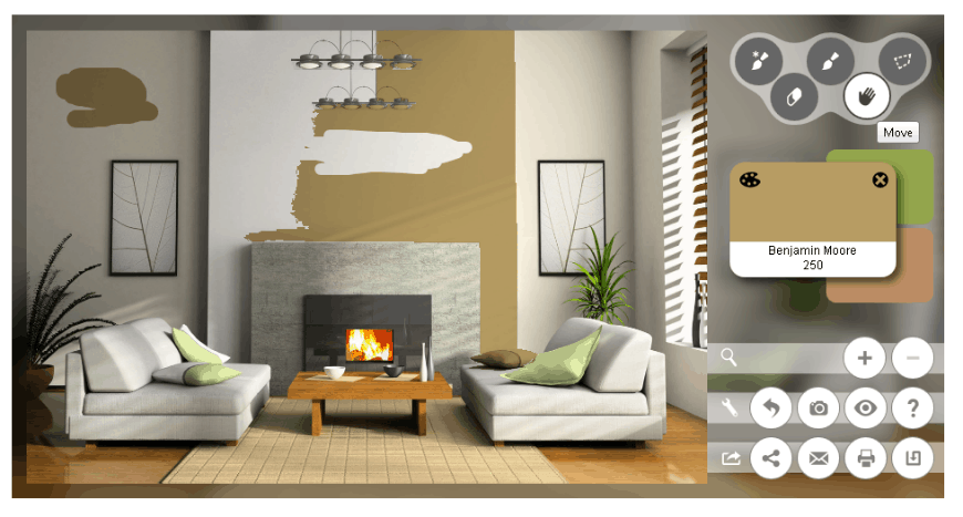 9 free virtual house paint visualizer options exterior interior rooms. Black Bedroom Furniture Sets. Home Design Ideas