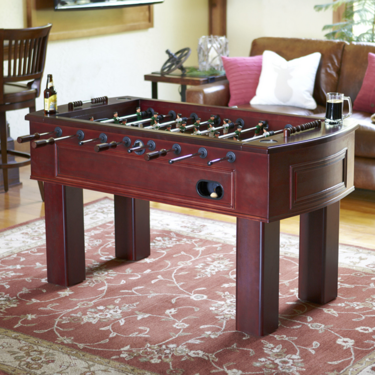 Speaking of staples of male bonding, we can't forget about foosball. As seen in every great hometown bar, every awesome rec room, and every cool friend's basement, the foosball table is a magnetic presence anywhere it appears. It's sure to be a hit if your man cave is styled more like a local pub or game room.