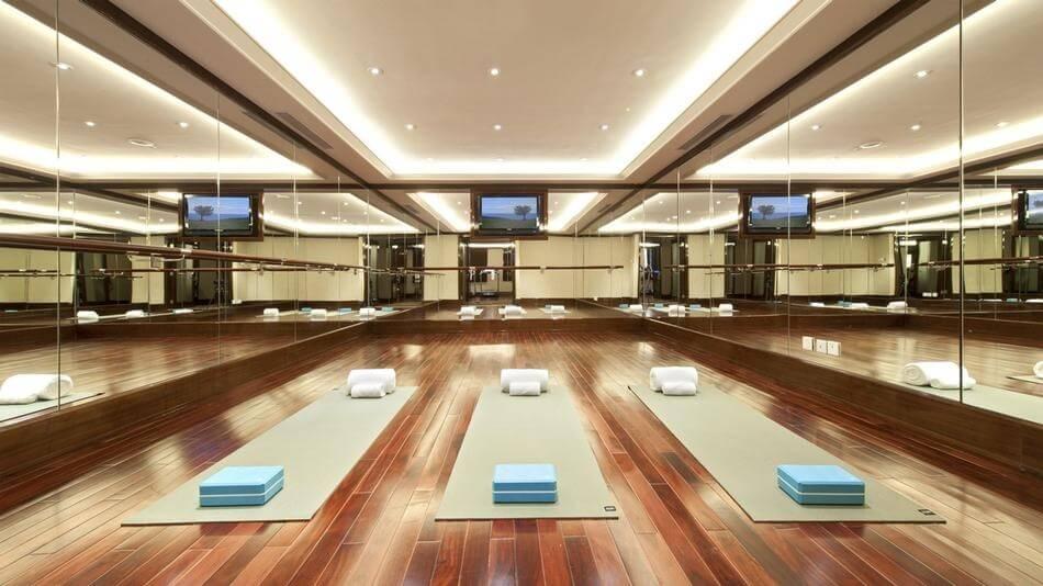 Luxury home yoga studio design