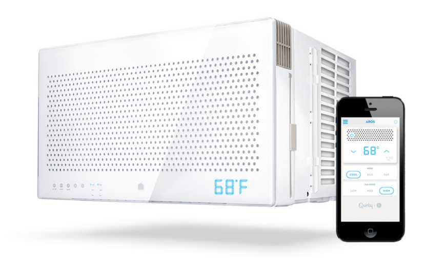 Regular window AC units only give you two choices: Leave the air on all day, wasting electricity and money, or come home to a hot and humid home. Instead, Aros uses information gathering to learn about your patterns and habits, tailoring its operation to your home and lifestyle. Used in combination with the Wink smartphone app, Aros can automatically maintain the right temperature at the right time, maximizing savings in the process. Additionally, it can be controlled and monitored from anywhere in the world.