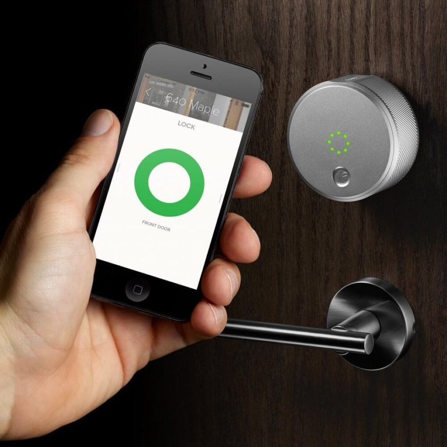 This sleek device allows you to lock and unlock your doors, create virtual keys for guests and family, and keep track of everyone who comes and goes right from your smartphone screen. It's got an auto lock and unlock function, making it easier to carry those groceries inside without having to stop. The ability to log and track who comes and goes is a valuable security option that we think shows some serious promise.