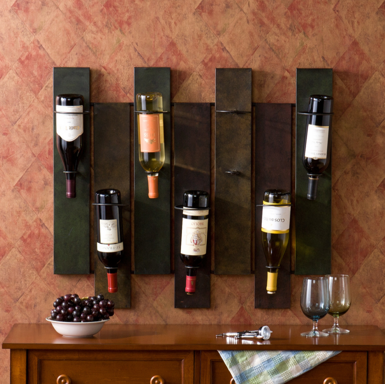 Speaking of wine, we've got the perfect minimalist rack for your vinery focused man cave. This model features a simple, dark neutral toned build and hangs out of the way on your wall for convenient and attractive wine storage. Keep the bottles easily accessible and proudly displayed pretty much anywhere.
