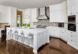 White kitchen with new kitchen cabinets