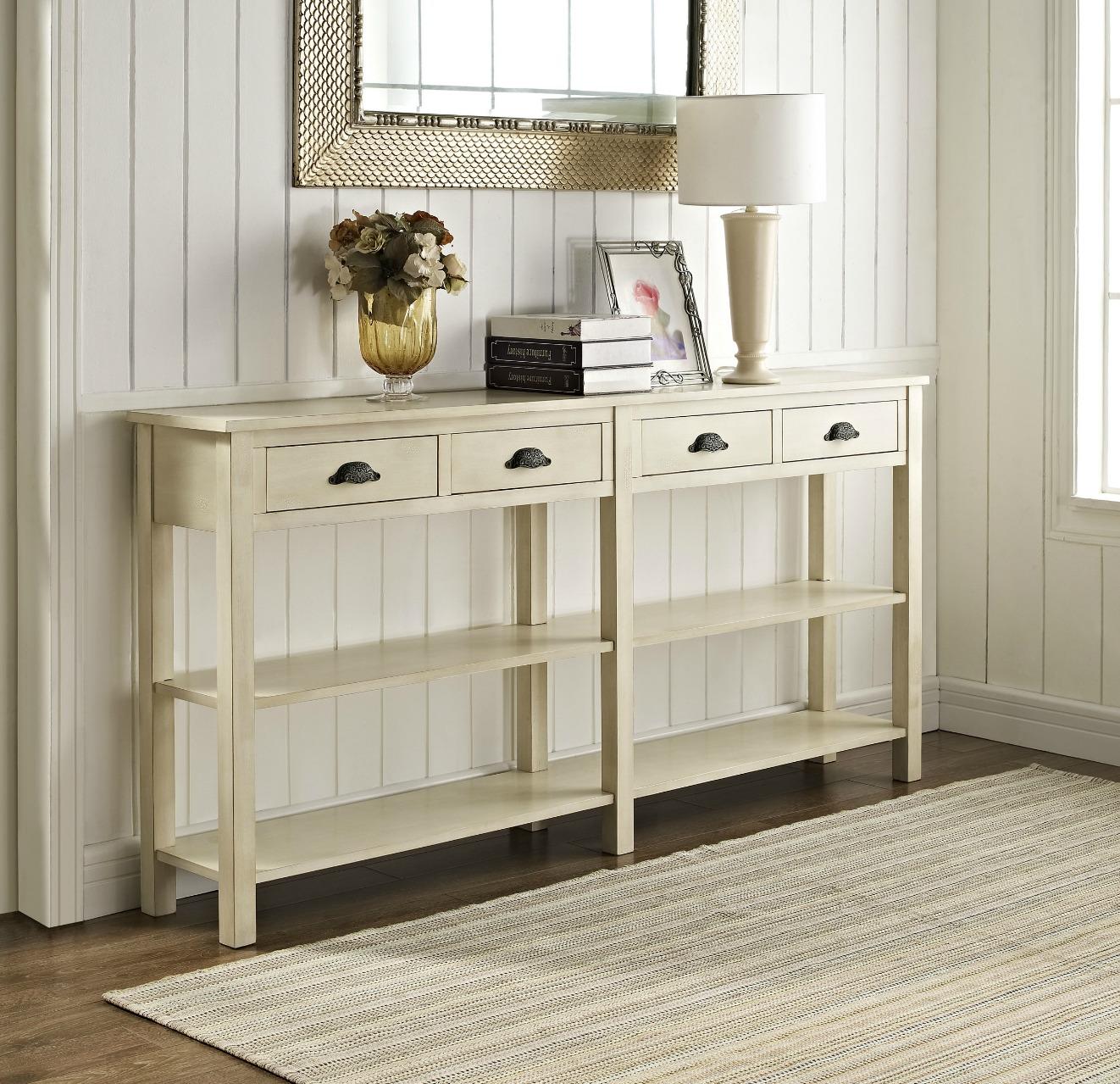 Beige foyer table photo