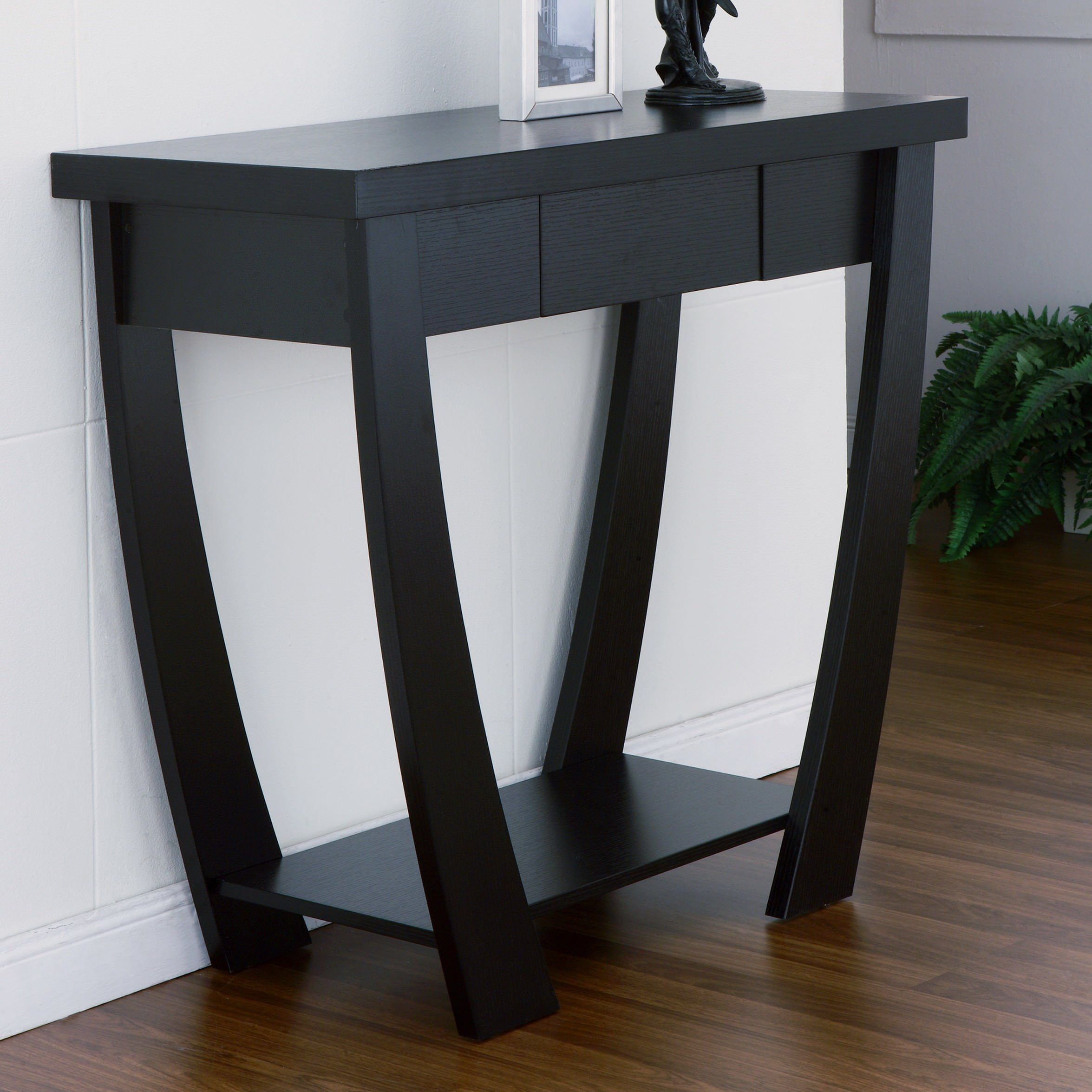 Black foyer table photo