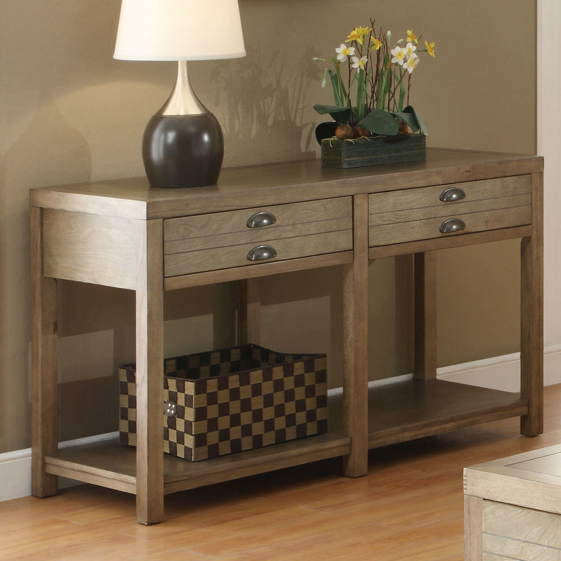 Console style foyer table