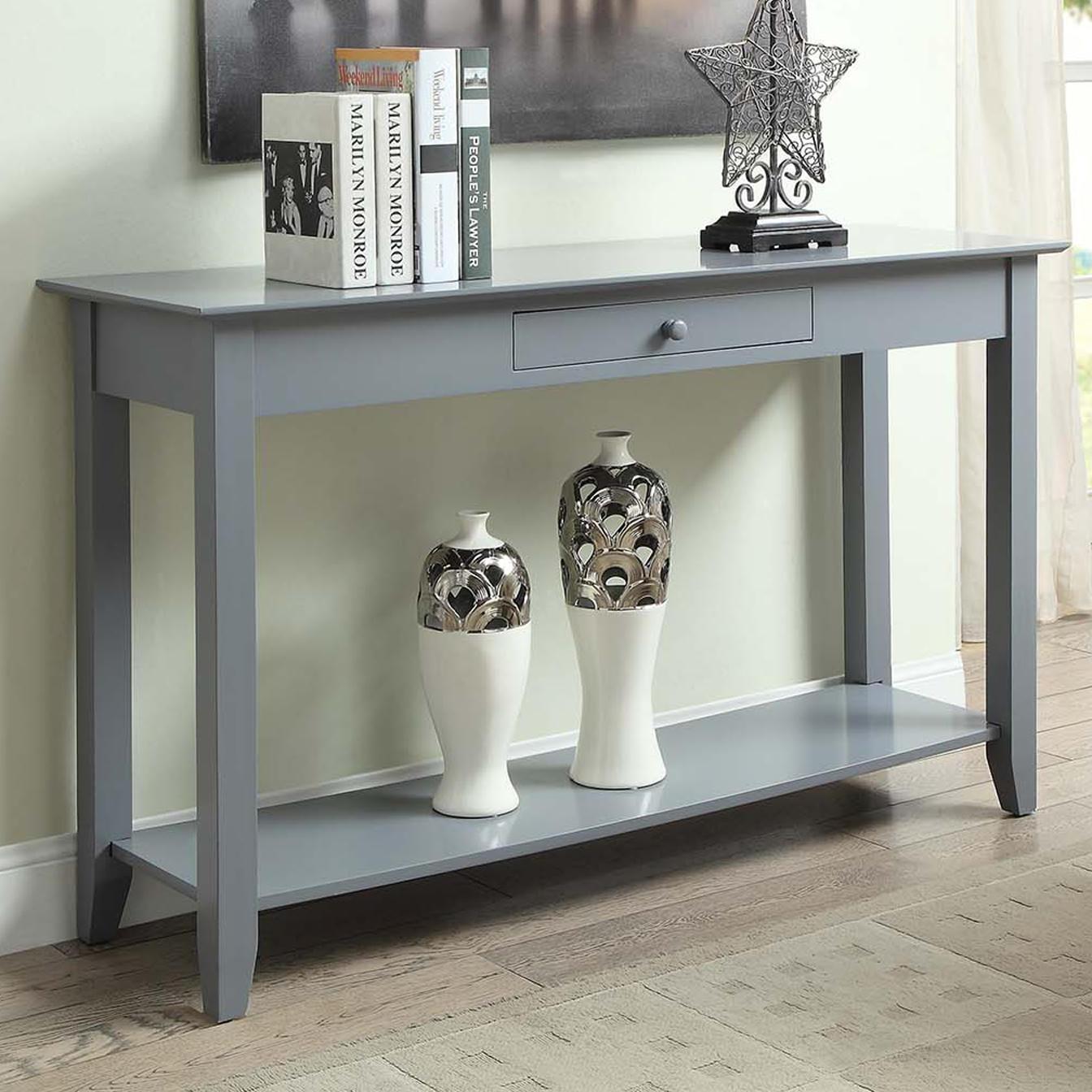Gray foyer table photo