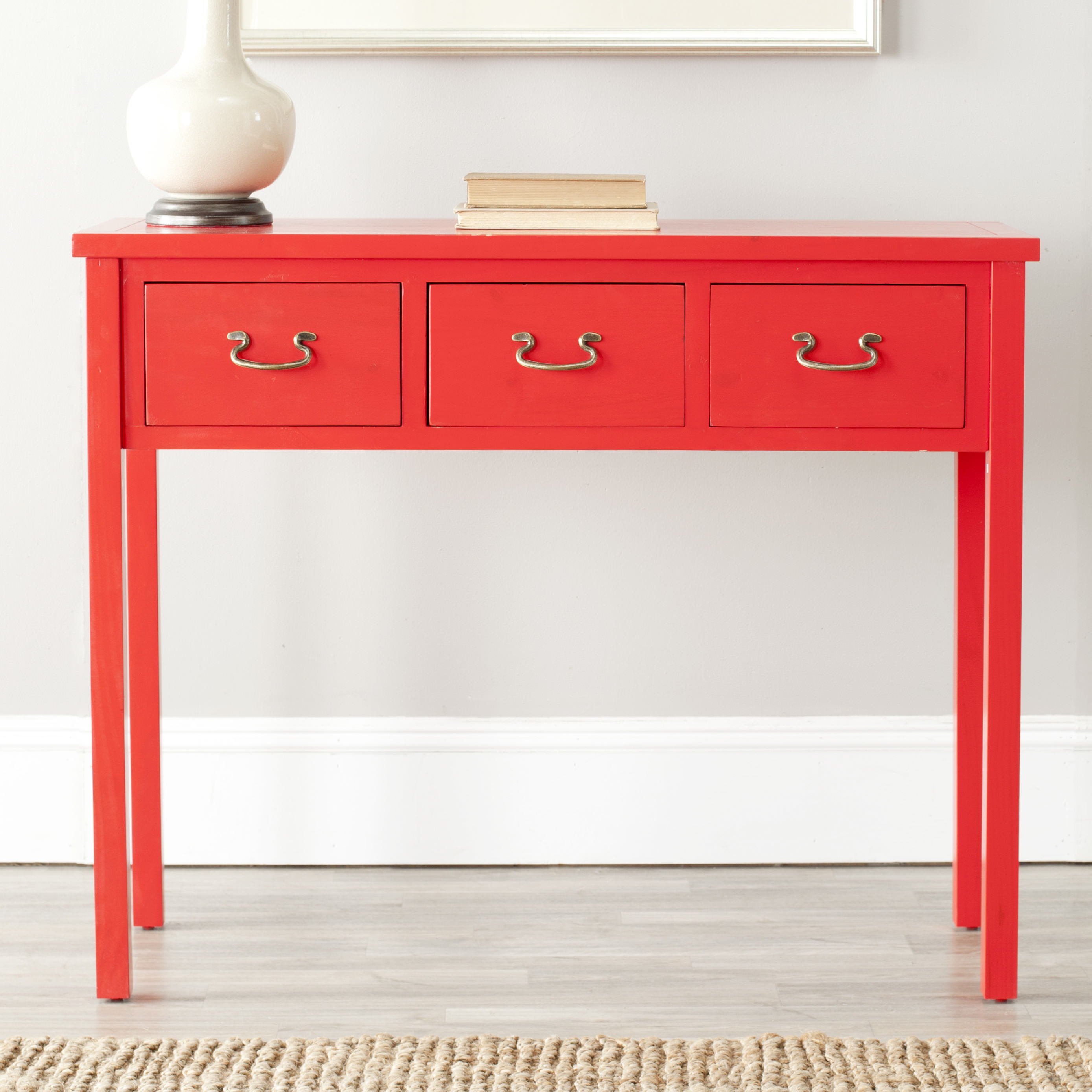 Red foyer table photo