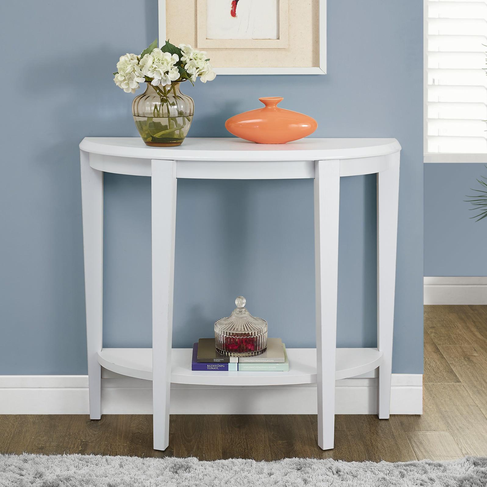 White foyer table photo