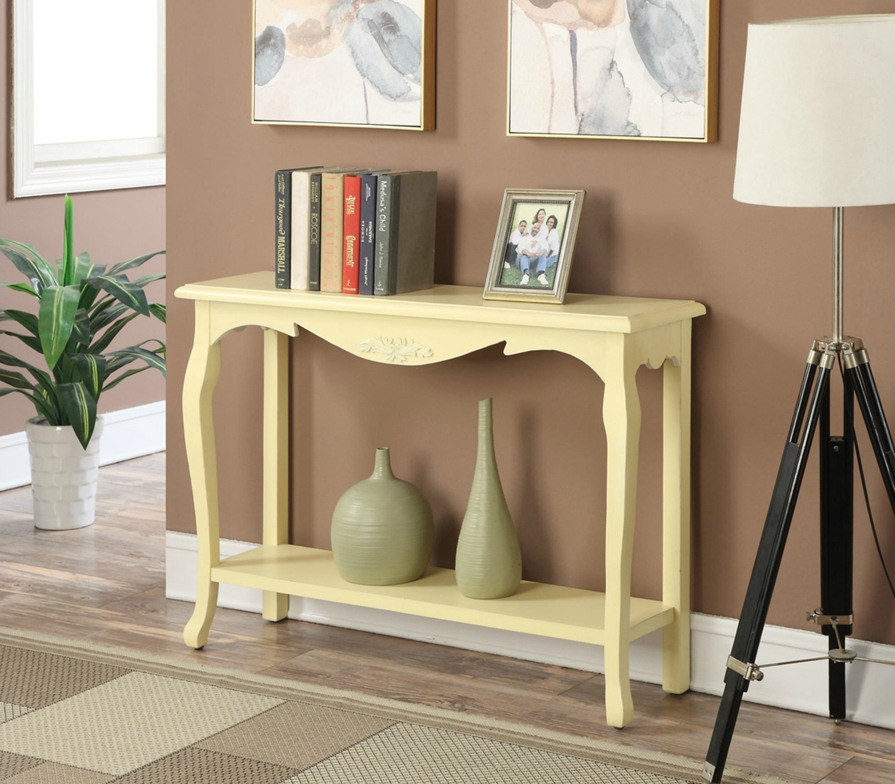 Yellow foyer table photo