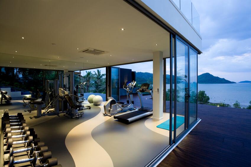 Luxury home gym and yoga studio