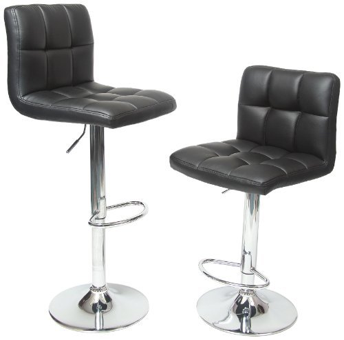 This barstool is one of the most striking we've ever seen, with a simplicity and richness of design that makes it relatively timeless. While it may not work in all settings, we believe any contemporary or modern man cave could benefit from its black tufted leather upholstery and chromed pedestal.