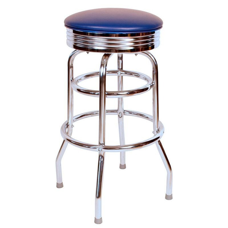 There's something irresistible about retro style done right. When you see it, you know it. If you've got a retro styled man cave, you'll want to check out this bar stool. It absolutely nails that 1950s diner feel, with chromed legs, a flashy swivel top, and brightly colored upholstery. The sturdy design and classic lines will look perfectly at home in any retro styled man cave.