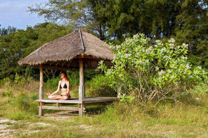 Small yoga pavilion