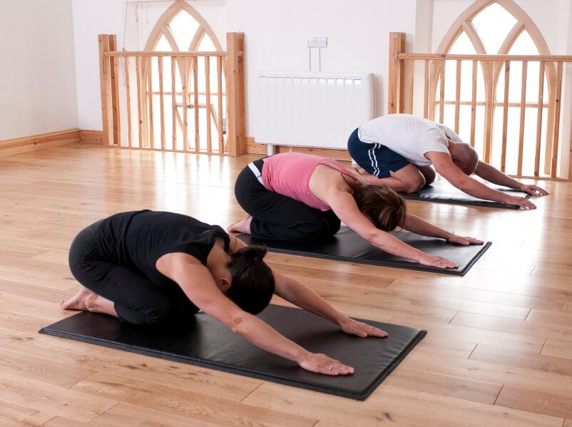 yoga studio in loft