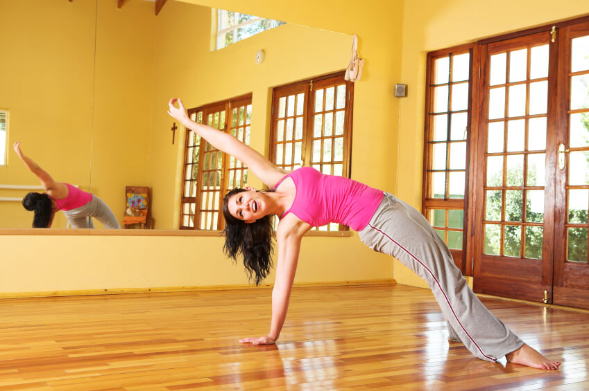Bright home yoga studio with separate entrance