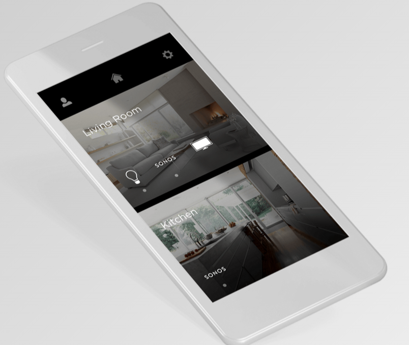 """Savant lets you create experiences to reflect your personality and lifestyle, switching between Sonos, Apple TV, cable, blu-ray, and other entertainment options with your smartphone or tablet. Even better, it can connect to other smart home systems like lighting, allowing you to set """"scenes"""" where entire sets of functions can work in concert."""
