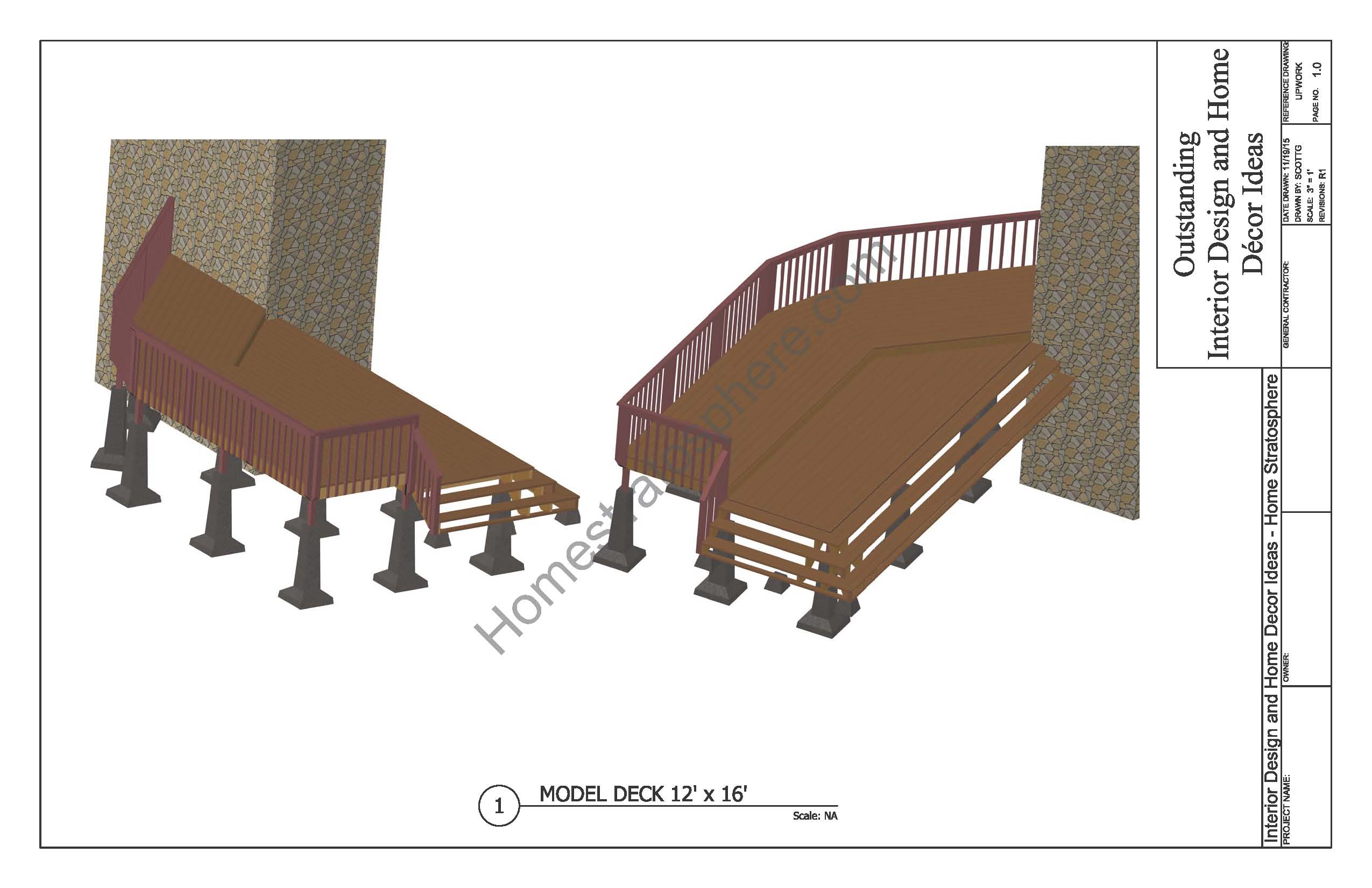 2 Level Deck Plan