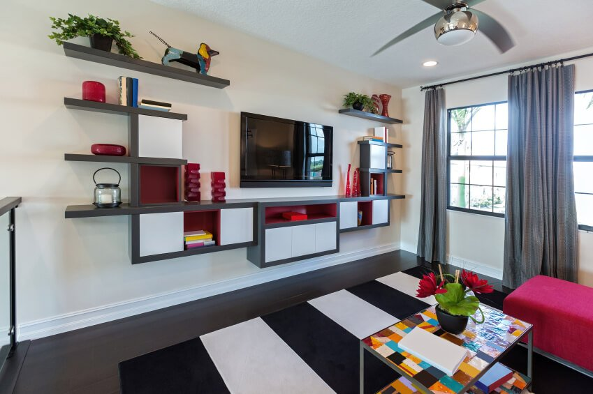 27 Beautiful Living Room Shelves Home, Ideas For Decorating Living Room Shelves