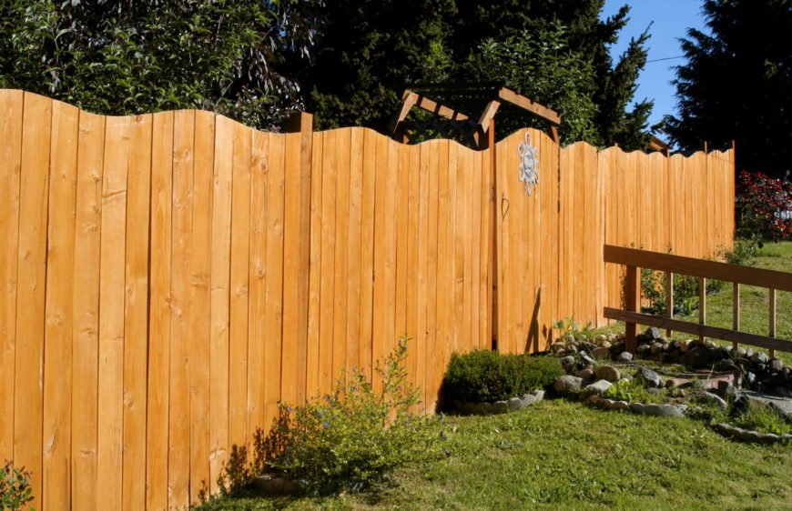 Variable lengths in the slats on a privacy fence can give your fence an interesting look.