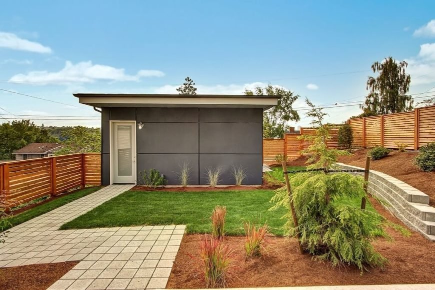 A traditional shed with a modern home would not make much sense. Opt for a design that will complement, not clash, with your home.