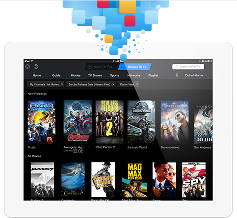 You probably recognize DirecTV as a satellite dish service, but they've now got a mobile app that allows you to operate and enjoy your programming from anywhere. The app lets you watch movies and TV on your tablet or smartphone, and can even let you set your DVR programming. It can all be operated by voice, lending a hands-free luxury to its function.