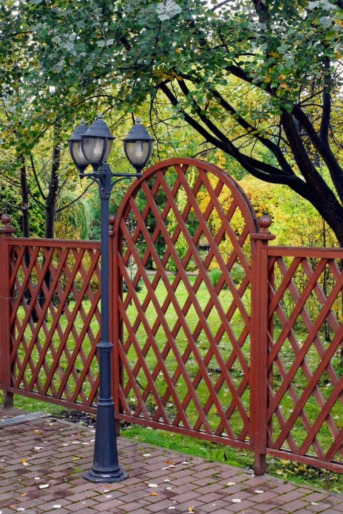 This vine-free lattice works well as a waist-high gated fence.