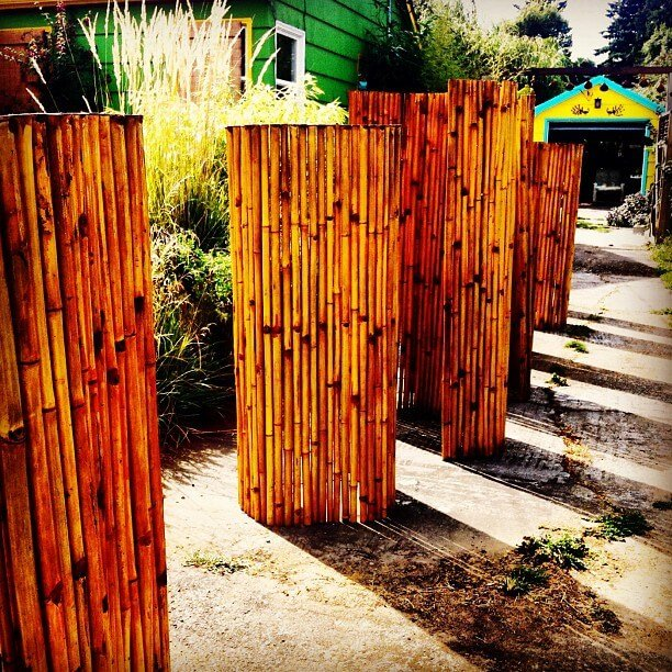 Bamboo is always a good look and is very cost effective.