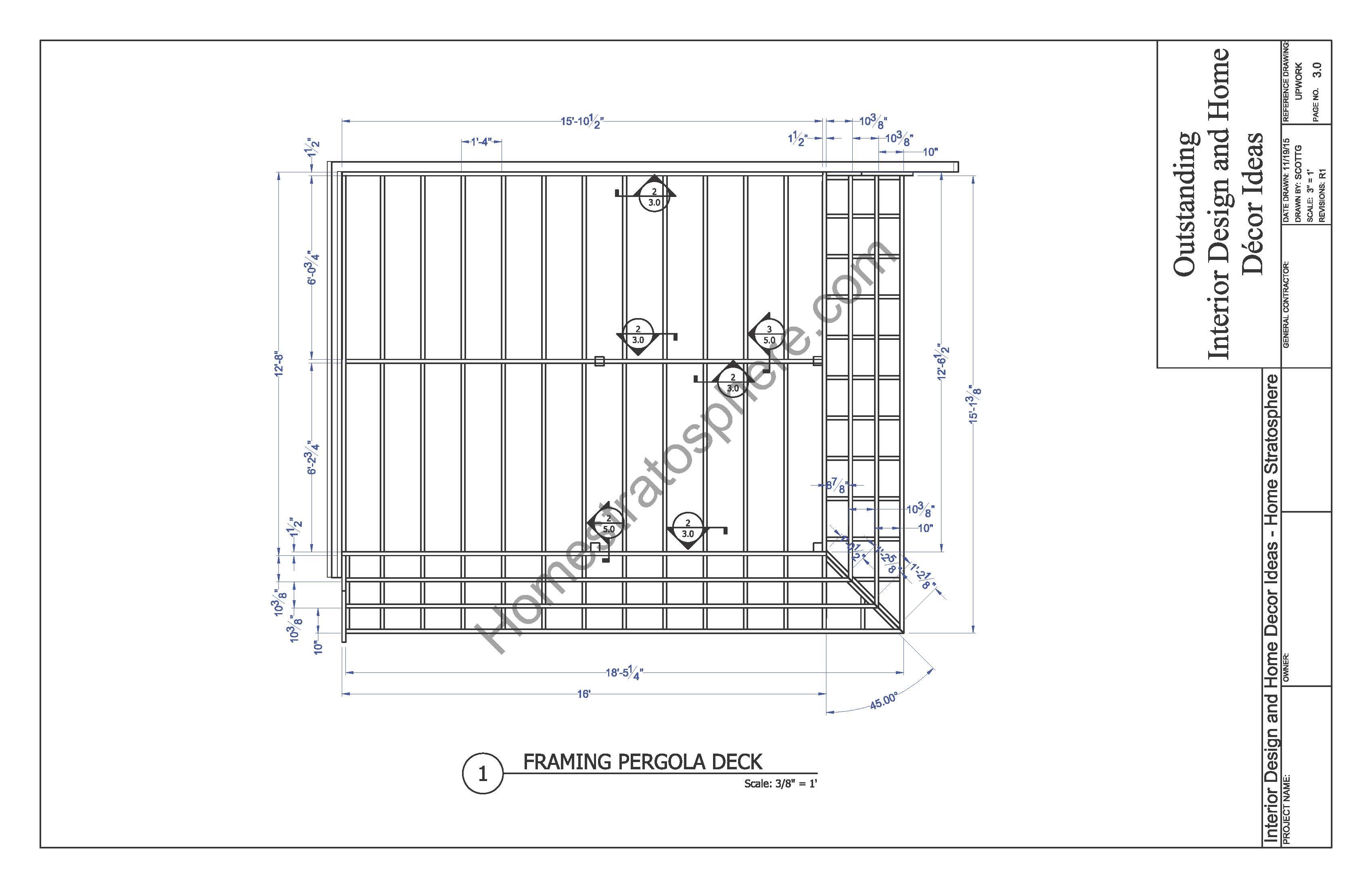 Pergola Deck Framing