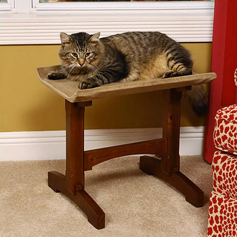While we don't normally feature pet furniture of any stripe on this site, we had to make an exception in this case. The sturdy rich wood frame of this cat perch is crafted in the classic Craftsman style, making for a uniquely handsome and cohesive piece of furniture. Whether it's built for humans or otherwise, a piece of Craftsman furniture will always be a strong, attractive addition to your living room.