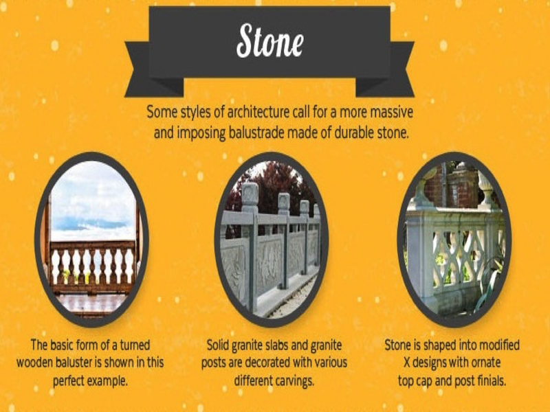 Infographic on stone railings. Courtesy of Mountain Laurel Handrail.