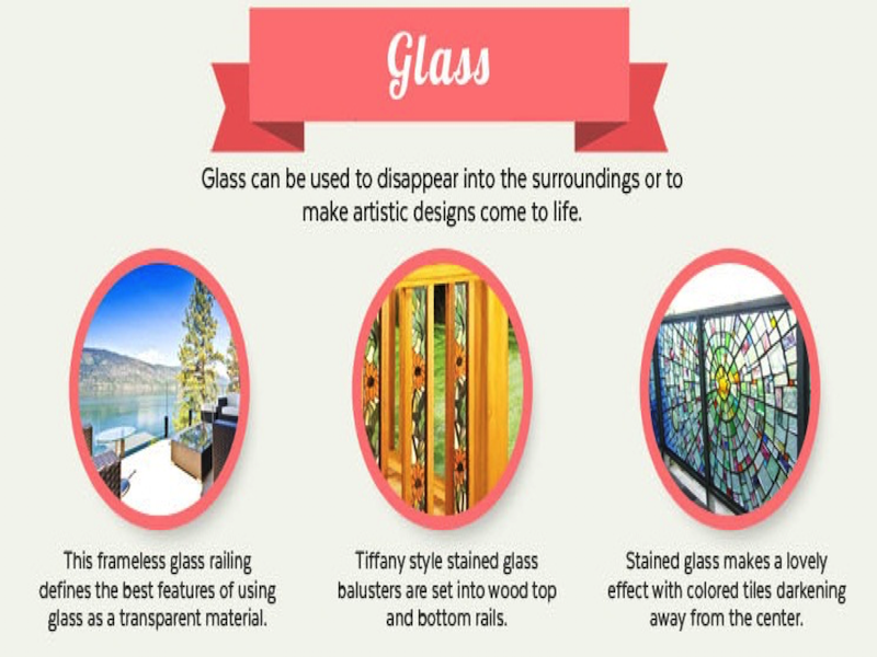 Infographic on glass railings. Courtesy of Mountain Laurel Handrail.