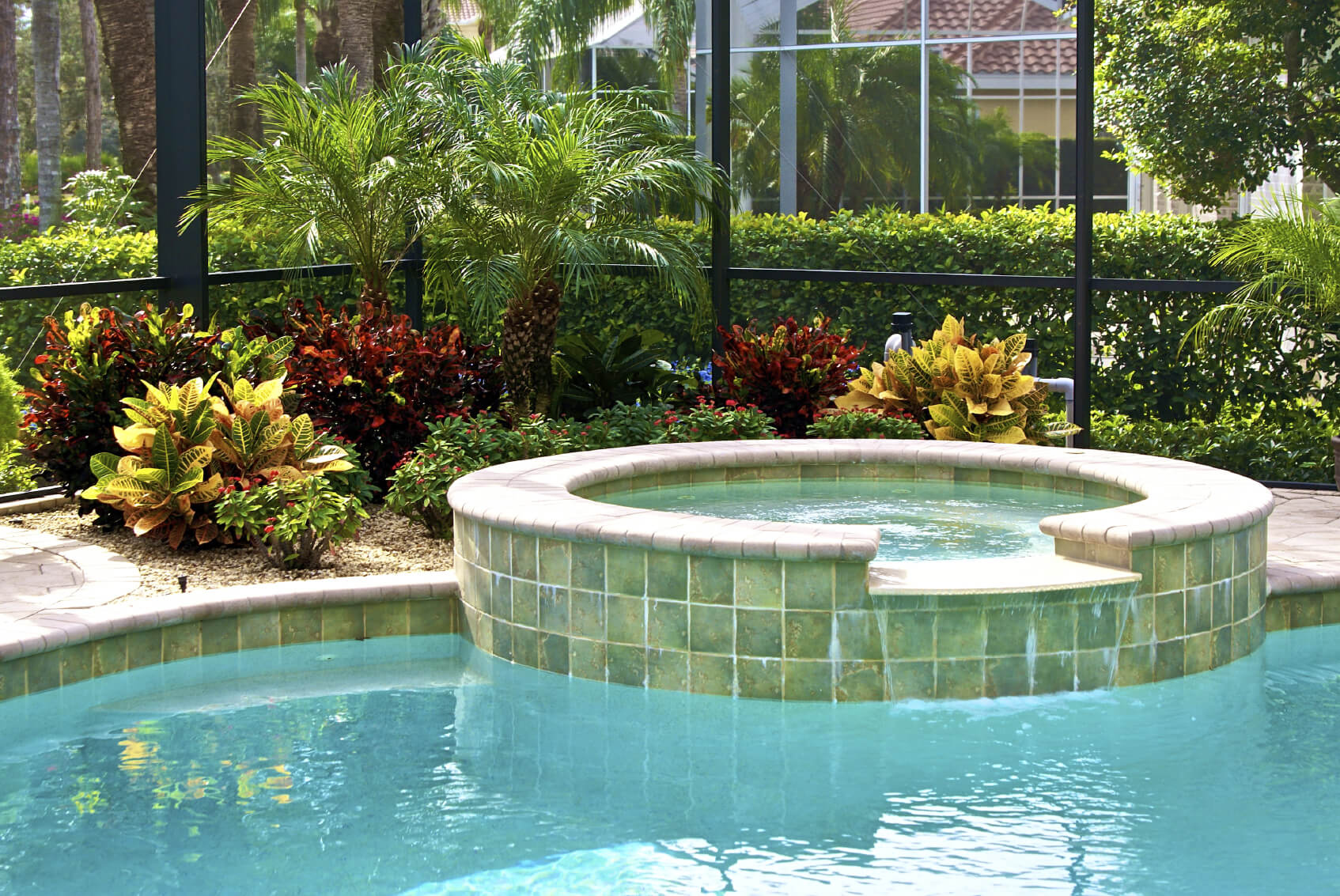 Greenery is the perfect companion to a hot tub. As you let the warm water take you away, it is nice to be surrounded by nature, and the soothing atmosphere that a lovely garden can provide.